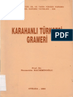 Karahanli Turkcesi Grameri (Hacieminoglu)(Ankara-1996)