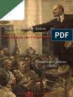 Tesis e Informe Sobre La Democracia Burguesa y La Dictadura Del Proletariado; LENIN