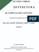 TRATADO.arquITECTURA.1797 Andrea Palladio. Los Cuatro Libros de Arquitectura