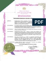 Mayoral Proclamation NHW