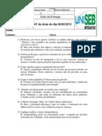 Chat Da Aula Do Dia 08-02-13