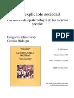 Klimovsky, G. e Hidalgo, C. - La Inexplicable Sociedad