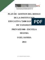 Plan de Gestion de Riesgos Santa Rosa de Ya