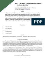 Torque reduction for 2 dof manipulator