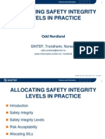 Allocating Safety Integrity Levels in Practice