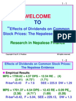 Seminar on Dividends