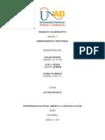 Fase 3 Trabajo Colaborativo # 2 Emprendimiento Industrial