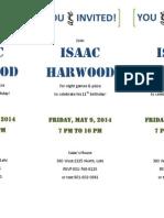 Isaac Birthday Invite