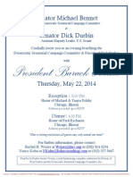 Reception and Dinner for Democratic Senatorial Campaign Committee, Dick Durbin