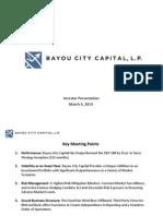 140304 Bayou City Capital Investor Update March 4
