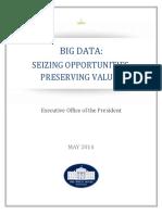 Big Data White House Report