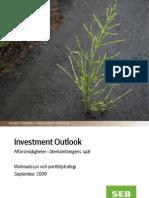 SEB Investment Outlook September 2009