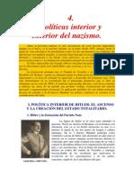Politicas Interior y Exterior Del Nazismo