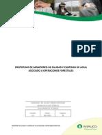 ARAUCO, 2010. Protocolo de Monitoreo de Calidad y Cantidad de Agua