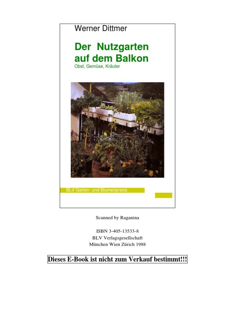 Werner Dittmer Der Nutzgarten Auf Dem Balkon Capsicum Tomato
