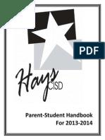 Hays CISD 2013-14 Student Handbook
