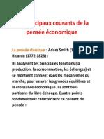 Les Principaux Courants de La Pensée Économique - Copie