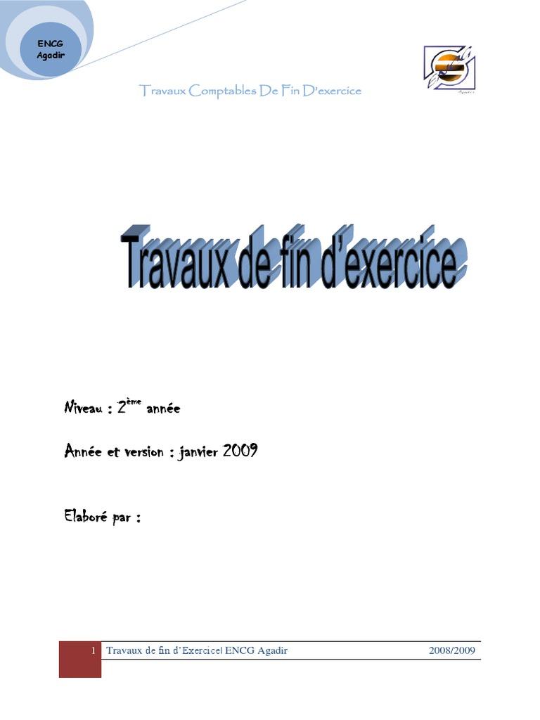 Travaux de Fin D_exercice | Dépréciation | Immobilisations