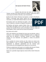 Biografía de Distintas Épocas de Santa Teresa