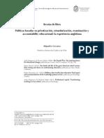 Carrasco, A. Reseña de Libro Políticas Basadas en Privatización, Estandarización, Examinación y Accountability Educacional La Experiencia Anglófona.