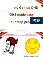 Simply Genius OHS OHS Made Easy Four Step Process