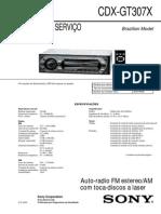 Sony CDX-GT307X Manual de Serviço