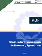 Clasificador_2014 ONAPRE