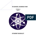 Student Science Fair Booklet 2014
