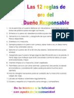 12 Reglas Del Dueño Responsable