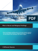racial and religious profiling in airport security
