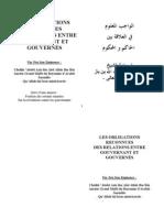 Les obligations reconues des relations entre gouvernant et gouvernés