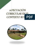 Adecuación Curricular en El Contexto Rural (Reparado)