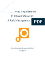 Bitcoin Risk Management Study Spring 2014