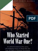 Harry Elmer Barnes - Who Started World War One