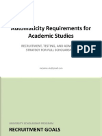 Automaticity Requirements for Academic Studies