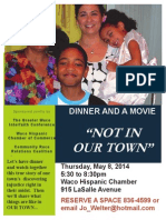 Flier Not in Our Town 5.8.14