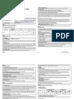 Toluene Safety Data Sheet