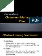 classroom management plan miss morehouse