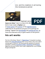 Raphael Sancio and His Creations in Art During the Renaissance Period