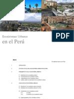Ecosistemas Urbanos en El Perú-Exposición