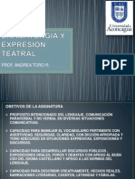 Dramaturgia y Expresión Teatral Pres. 1