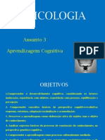 Ass 3 - Aprendizagem Cognitiva (PIAGET e GESTALT)