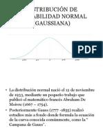 Distribución de Probabilidad Normal