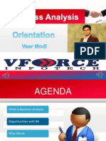 Vforce Infotech BA Orientation