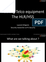 Hacking Telco Equipment the HLR HSS Laurent Ghigonis