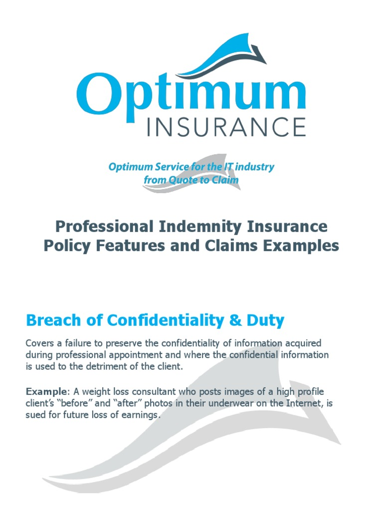 policy features and claims examples liability insurance professional liability insurance