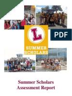 2013 Summer Scholars Assessment Report