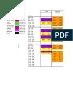 PSG Schedule General Schedule