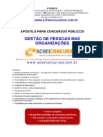 108965895 Apostila de Gestao de Pessoas Nas Organizacoes Para Concursos