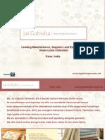Home Linen Collection Exporters- Jai Gabisha Garments, India